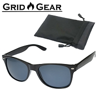 Sunglasses Vintage Design Polarized UV400 Classic Black Aviator Style For Men and Women by Grid Gear